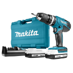 Makita HP457DWE10 drill Black,Blue 1.7 kg