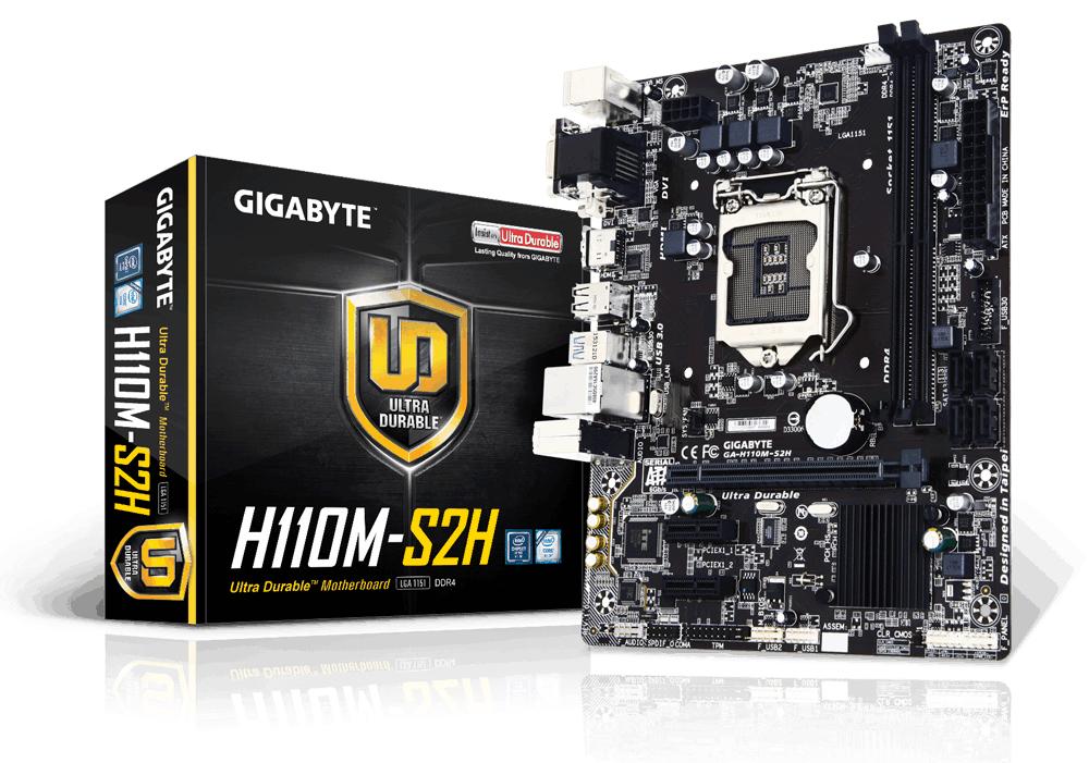 Gigabyte GA-H110M-S2H Intel® H110 Express Chipset LGA 1151 (Socket H4) Micro ATX motherboard