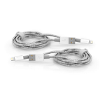 Verbatim 48872 lightning cable 1 m Stainless steel, White