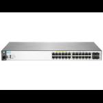 Hewlett Packard Enterprise Aruba 2530 24G PoE+ Managed L2 Gigabit Ethernet (10/100/1000) Gray 1U Power over Ethernet (PoE)