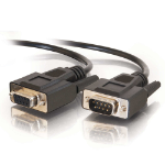 C2G 5m DB9 RS232 M/F Extension Cable - Black serial cable