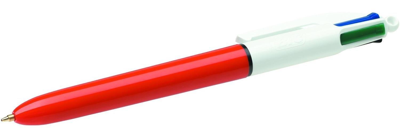 BIC 4-Color Clip-on retractable ballpoint pen Fine Black,Blue,Green,Red