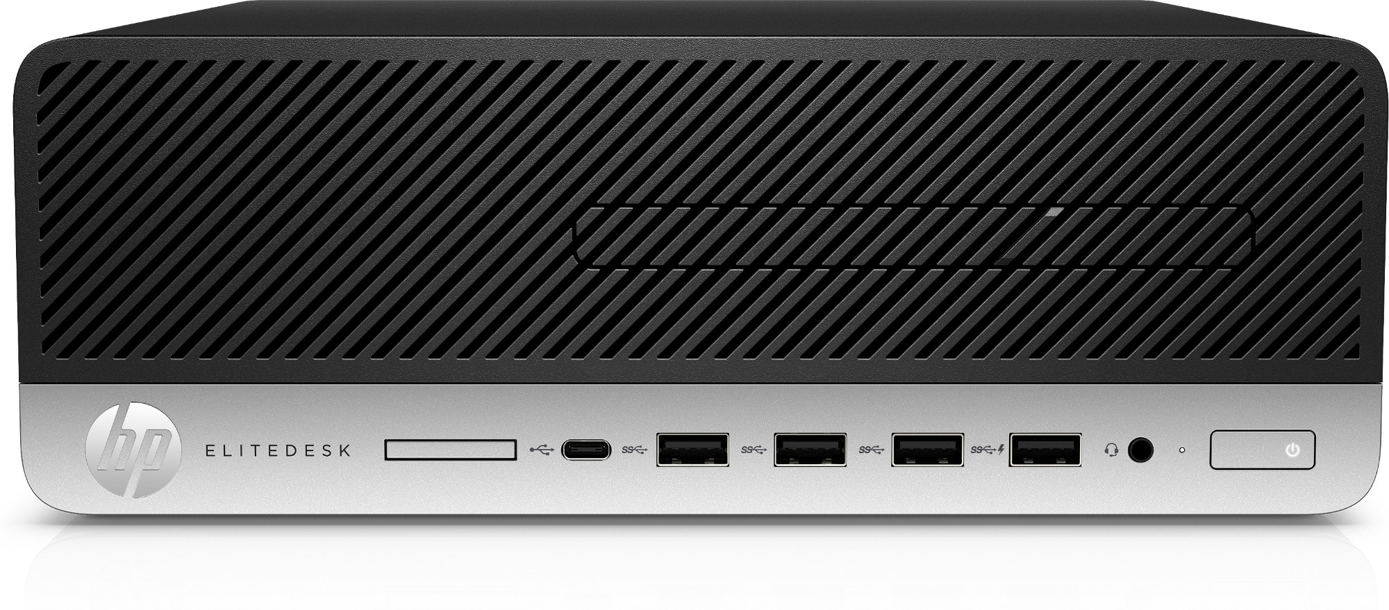 HP EliteDesk Ordinateur à faible encombrement 705 G5 AMD Ryzen 5 PRO 3400G 8 GB DDR4-SDRAM 256 GB SSD SFF Negro, Plata PC Windows 10 Pro