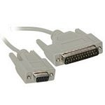 C2G 1m DB9 F/DB25 M Cable 1m Grey networking cable