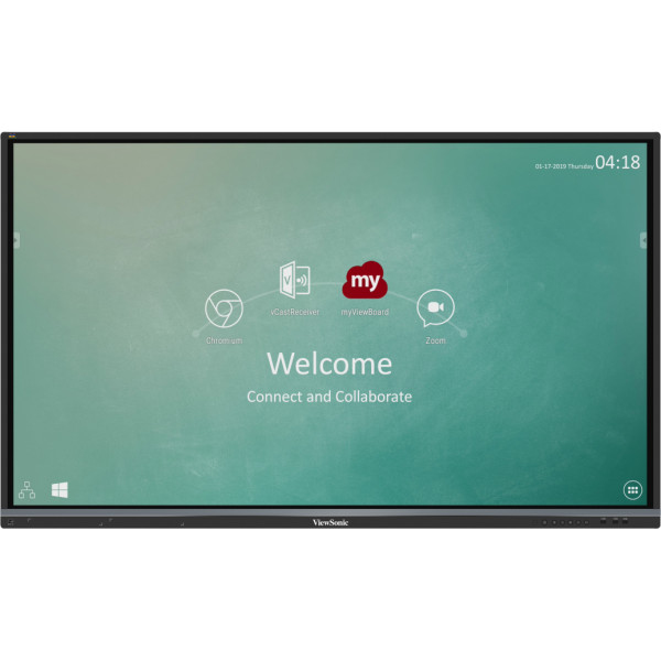 "Viewsonic IFP6550-2EP Interactive Touchscreen - 64.5"" Diagonal - LCD 4K Ultra HD - Interactive Flat Panel"