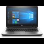 "HP ProBook 640 G3 Black,Silver Notebook 35.6 cm (14"") 1920 x 1080 pixels 7th gen Intel® Core™ i7 4 GB DDR4-SDRAM 1000 GB HDD Windows 10 Pro"