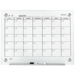 QUARTET INFINITY GLASS CALENDAR BOARD 450 X 600MM WHITE