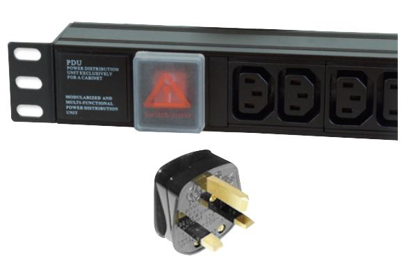 LMS 6 Way Horizontal IEC13 10A Switched PDU > UK Plug