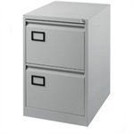 Jemini Filing Cabinet 2 Drawer Light Grey