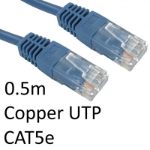 TARGET RJ45 (M) to RJ45 (M) CAT5e 0.5m Blue OEM Moulded Boot Copper UTP Network Cable