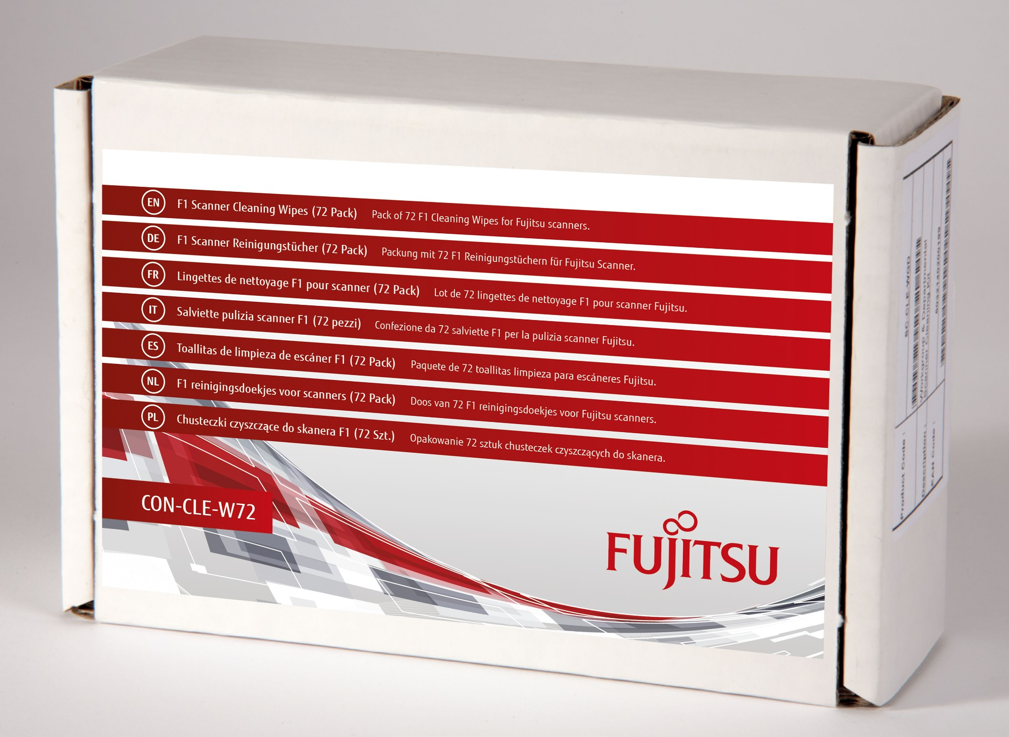 Fujitsu/PFU F1 Scanner Cleaning Wipes (72 Pack) Scanner Cleaning wipes Impregnated with manufacturer