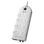 APC Essential SurgeArrest 8 outlets with Coax & Network Protection, 230V Australia