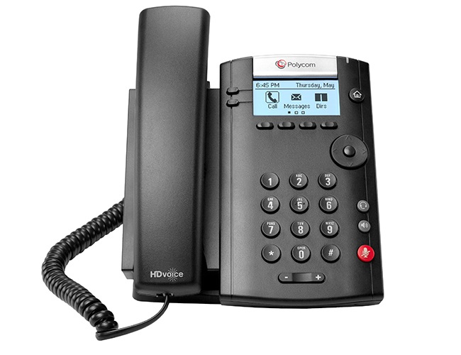 Polycom VVX 201 Wired handset 2lines LED Black IP phone