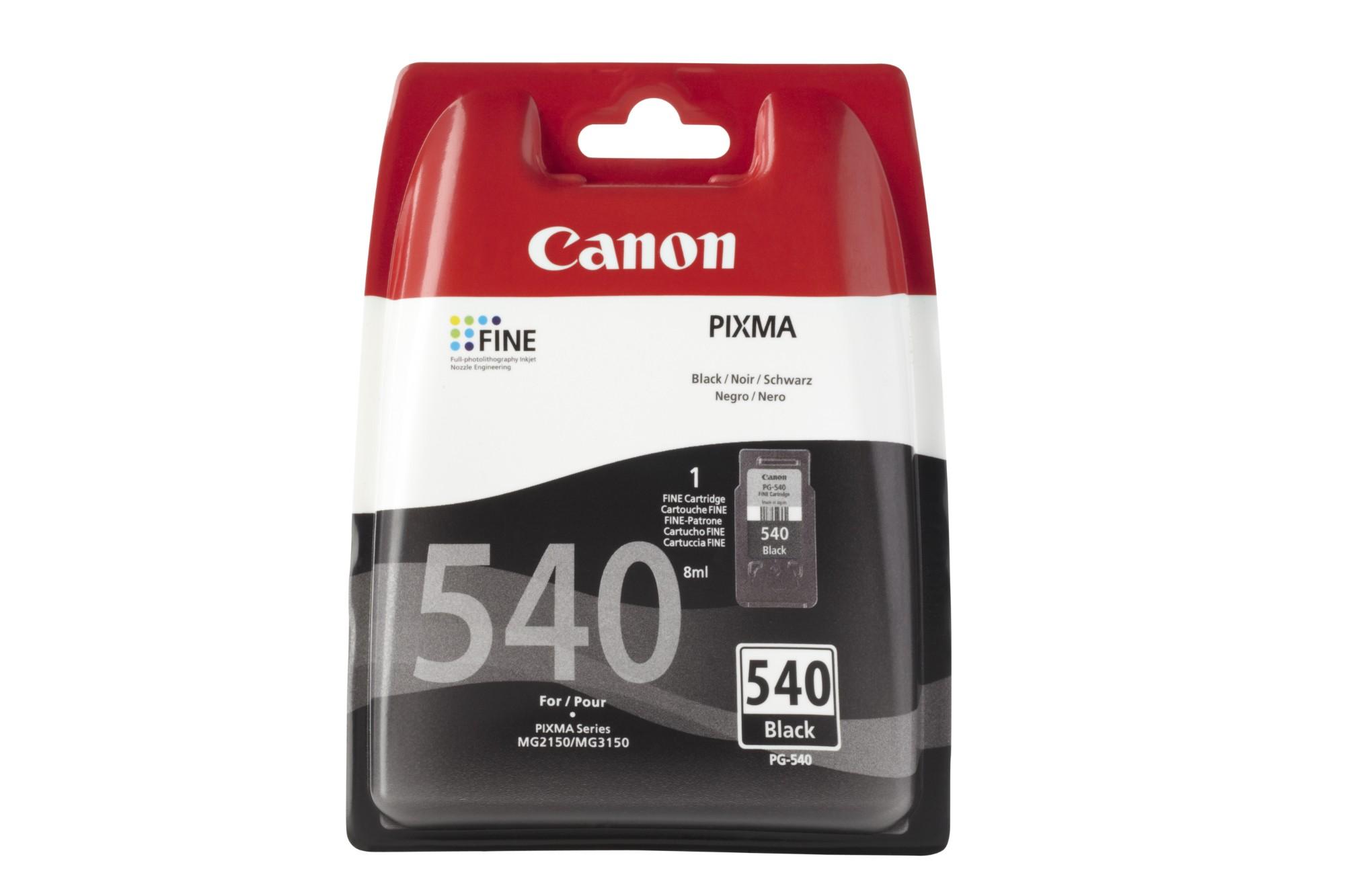 Canon PG-540 w/sec Original Negro 1 pieza(s)