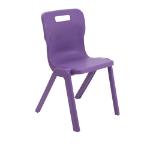 Titan Furniture One Piece Chair Hard seat Hard backrest Purple Polypropylene
