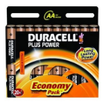 Duracell 20x AA 1.5V Alkaline 1.5V non-rechargeable battery