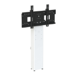 "Loxit 8433 95"" Fixed flat panel floor stand Black, White flat panel floorstand"