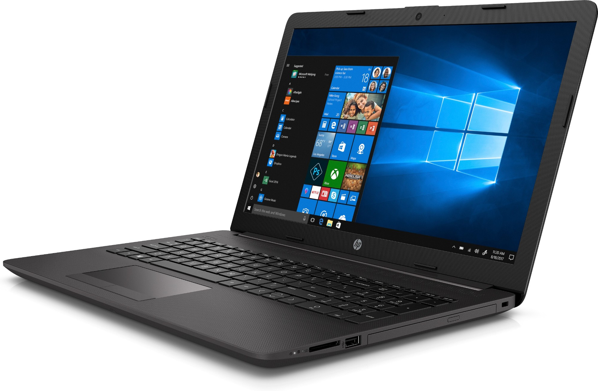 "HP 255 G7 Grey Notebook 39.6 cm (15.6"") 1366 x 768 pixels AMD Ryzen 3 8 GB DDR4-SDRAM 256 GB SSD Wi-Fi 5 (802.11ac) Windows 10 Pro"