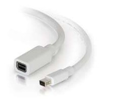 C2G 2.0m Mini DisplayPort M/F 2m Mini DisplayPort Mini DisplayPort White