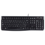 Logitech K120 keyboard USB QWERTZ Czech Black