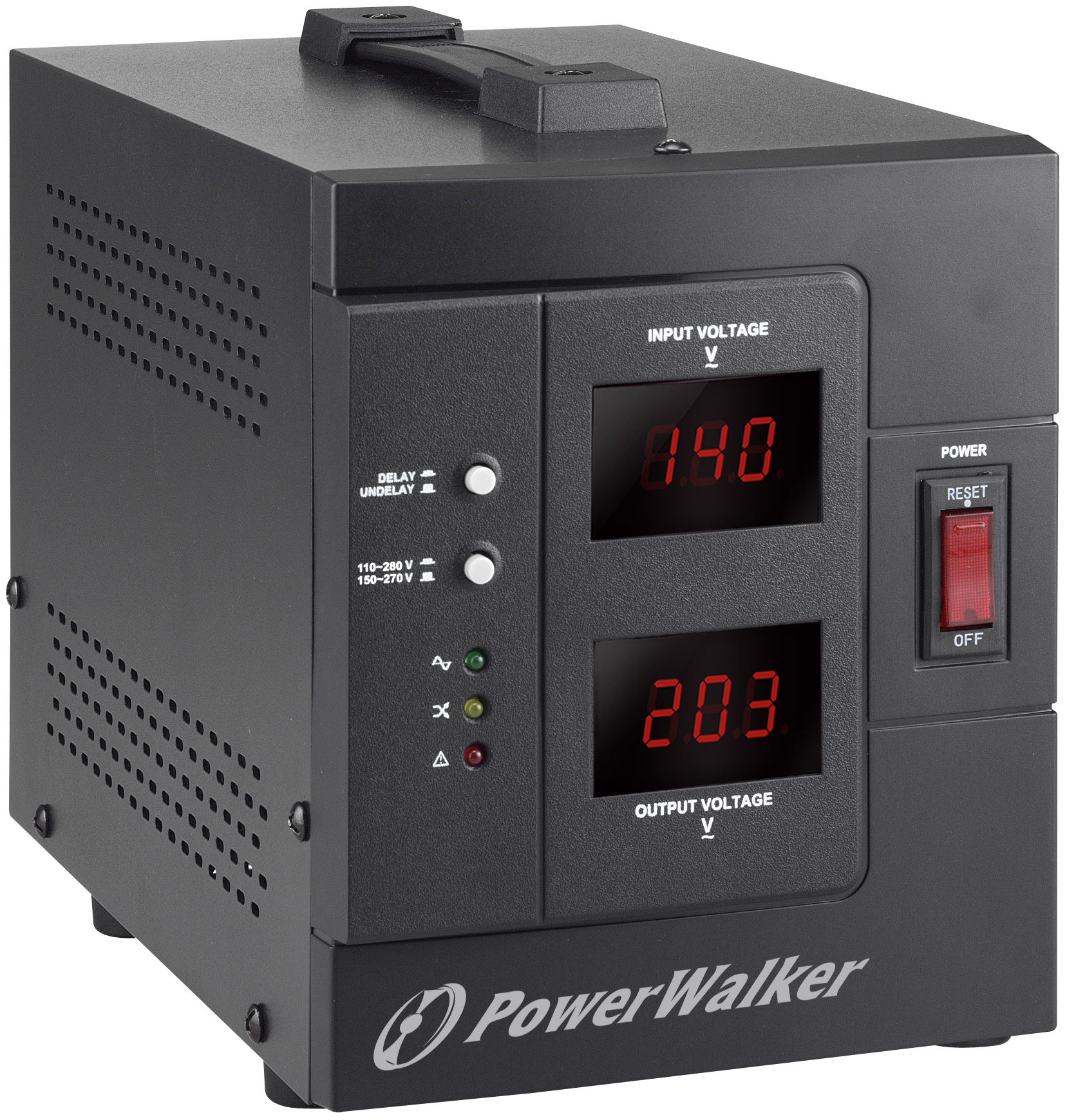 PowerWalker AVR 2000/SIV voltage regulator 230 V 2 AC outlet(s) Black