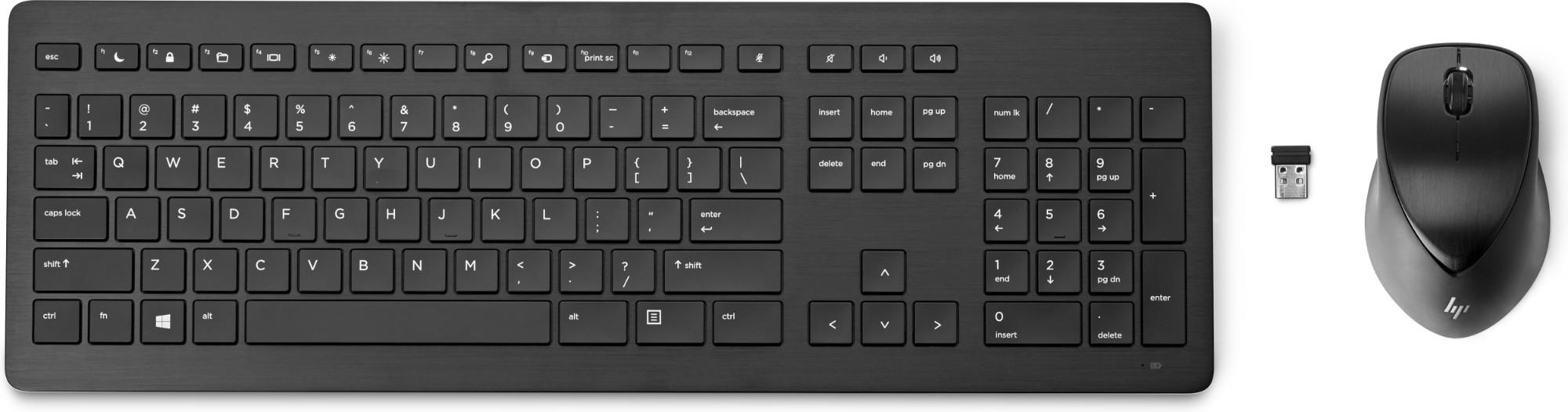 HP 950MK teclado RF inalámbrico Negro