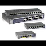 Netgear ProSAFE Unmanaged Plus Switch - GS105E - 5 Gigabit Ethernet poorten