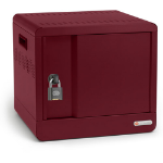 Bretford CUBE Micro Station Portable device management cabinet Maroon