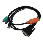 Lantronix 500-200-R 1.5m Black KVM cable