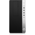 HP ProDesk 600 G4 i5-8500 Micro Tower 8th gen Intel® Core™ i5 8 GB DDR4-SDRAM 256 GB SSD Windows 10 Pro PC Black, Silver