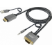Vision TC 2MHDMIVGA/HQ adaptador de cable de vídeo 2 m HDMI + USB VGA (D-Sub) + 3,5mm Gris