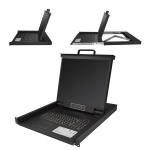 "StarTech.com RKCONS1901 19"" 1280 x 1024pixels Steel Black 1U rack console"