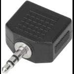 eSTUFF 3.5mm - 2x 3.5mm Black audio splitter