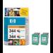 HP 344 Tri-colour Inkjet Print Cartridge 2-pack