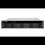 QNAP TS-883XU-RP E-2124 Ethernet LAN Rack (2U) Aluminum, Black NAS TS-883XU-RP-E2124-8G/64TB-EXOS