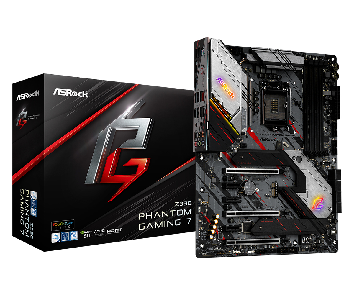 Asrock Z390 Phantom Gaming 7 motherboard LGA 1151 (Socket H4) ATX Intel Z390