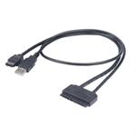 Akasa Flexstor eSATA USB SATA cable 0.4 m Black