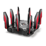 TP-LINK Archer C5400X wireless router Tri-band (2.4 GHz / 5 GHz / 5 GHz) Gigabit Ethernet Black,Red