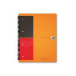 Elba Oxford writing notebook Grey,Orange A5 80 sheets