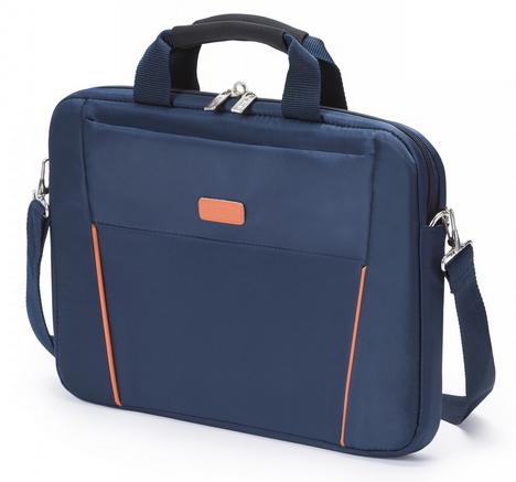 Dicota 13.3-Inch Top Loading Lockable Cushioned Notebook Briefcase - Blue/Orange - (D30995)