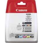 Canon 2078C005 (PGI-580 CLI 581 CMYK) Ink cartridge multi pack, 1x 200/1505/256/237/257 Pg, Pack qty 5