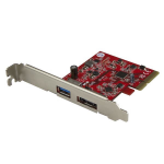 StarTech.com 2-Port USB 3.1 (10Gbps) and eSATA PCIe Card - 1x USB-A and 1x eSATA
