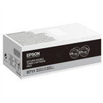 Epson C13S050711 (0710) Toner black, 2.5K pages, Pack qty 2