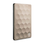 Seagate Backup Plus Ultra Slim external hard drive 1000 GB Gold