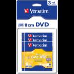 Verbatim DVD+RW 8cm Matt Silver 1.4GB DVD+RW 3pc(s)