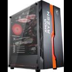 MSI MAG VAMPIRIC 011C Mid Tower Gaming Computer Case 'Black AMD RYZEN Edition, 1x 120mm RGB Fan, RGB Front Panel, Tempered Glass Panel, ATX, mATX, mini-ITX'