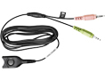Sennheiser CEDPC 1 EasyDisconnect 2x 3.5mm Black cable interface/gender adapter