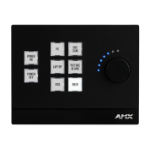 AMX Massio Black push-button panel