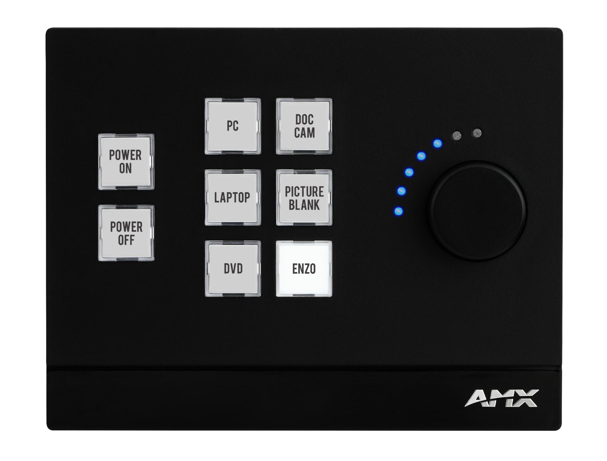 AMX Massio Black push-button panel