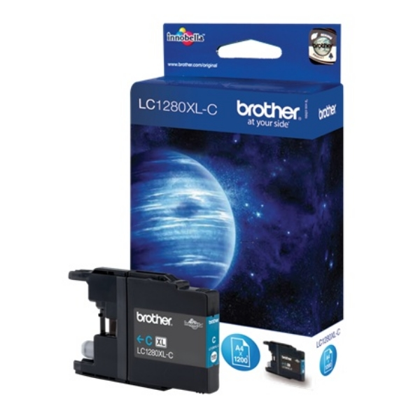 Brother LC-1280XLC Ink cartridge cyan, 1.2K pages